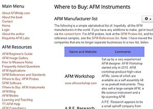 link to instruments page