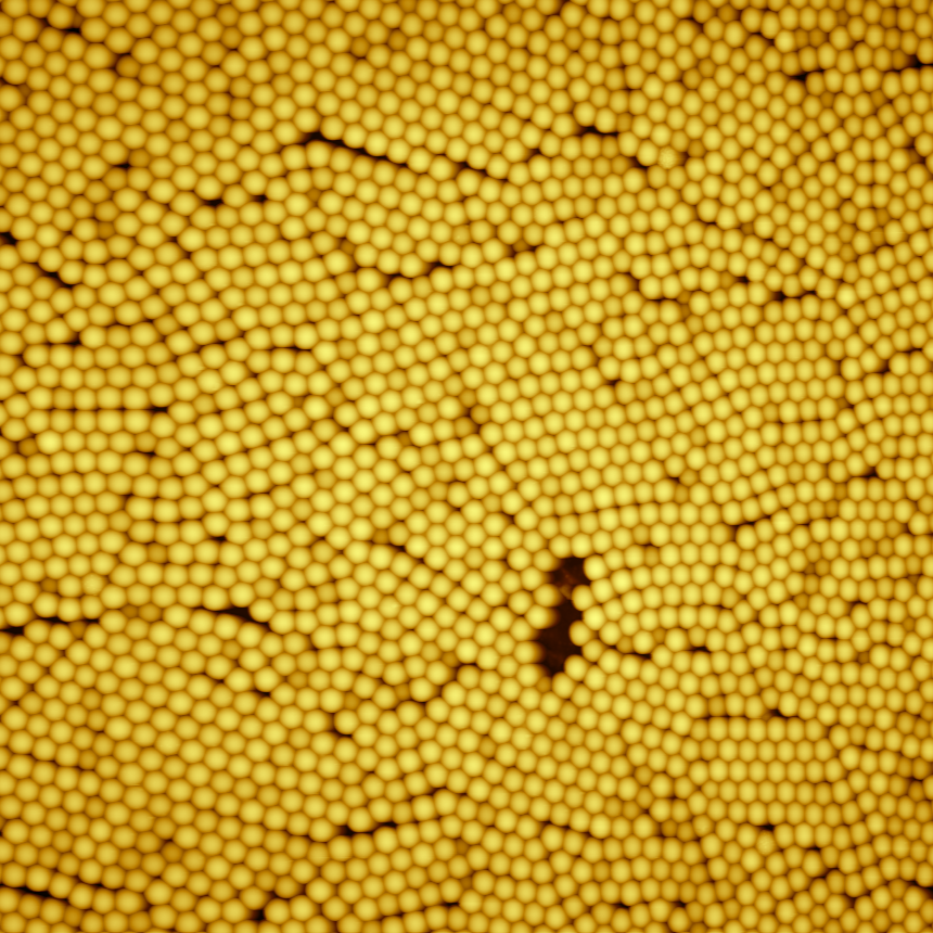Nanospheres monolayer